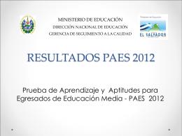 Resultados PAES 2012