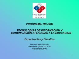Programa TIC EDU t resultados al 2005