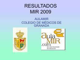 RESULTADOS MIR 2007