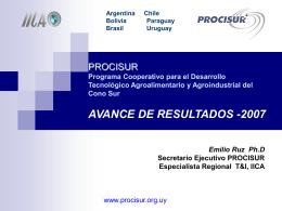 PROCISUR Programa Cooperativo para el Desarrollo