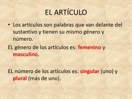 EL ARTICULO