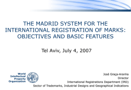 The Madrid System for the International Registration of …