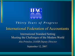 INTERNATIONAL FEDERATION OF ACCOUNTANTS