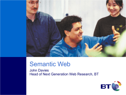 Semantic Web Tutorial by John Davies