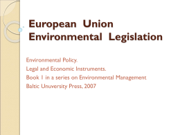 European Union Environmental Legislation