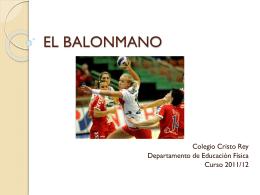 EL BALONMANO - Bienvenidos al Colegio Cristo Rey y San
