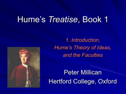 Lectures on Hume's Treatise: 1