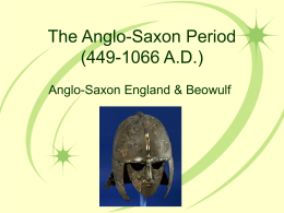 The Anglo-Saxon Period (449