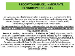 PSICOPATOLOGIA DEL INMIGRANTE. EL SINDROME DE …