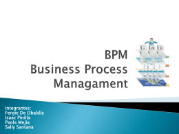 BPM -Business Process Management-