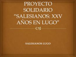"""PROYECTO SOLIDARIO """"MILAGROSA 2013"""""""