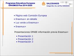 Programas Educativos Europeos ERASMUS