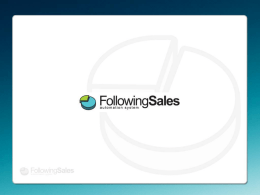 Diapositiva 1 - FollowingSales