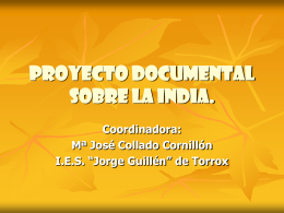 Proyecto documental sobre la india.
