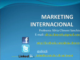 MARKETING INTERNACIONAL - El blog de Silvia Climent