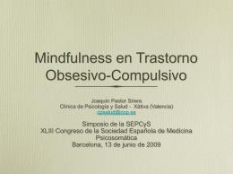 Mindfulness en Trastorno Obsesivo