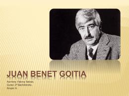 Juan Benet Goitia