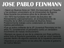 JUAN PABLO FEINMANN - FILOSOFIA SOCIAL Y POLITICA