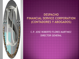 DESPACHO FINANCIAL SERVICE CORPORATION …