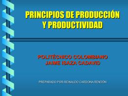 LA PRODUCTIVIDAD - planeacionproduccionelpoli