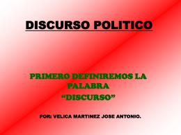 DISCURSO POLITICO - Comunihumana's Blog | Just …