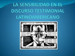 LA SENSIBILIDAD EN EL DISCURSO TESTIMONIAL …