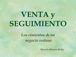 VENTA y SEGUIMIENTO - www.redteletrabajo.com