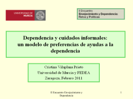 Unmet needs of dependent people in Spain