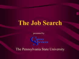 The Job Search - Penn State Berks Home Page
