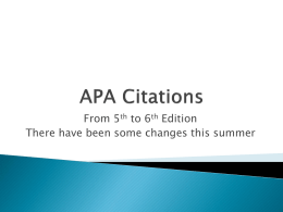 APA Citations - Virginia Tech