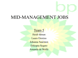 MID-MANAGEMENT JOBS