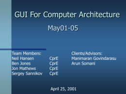 GUI For Computer Architecture