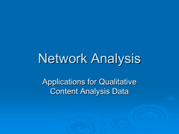 Network Analysis - University of Hawaii