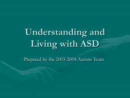 Autism Training - SHCSC Home Page