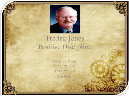 Fedric Jones Positive Discipline