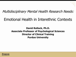 Emotional Health in Interethnic Contexts