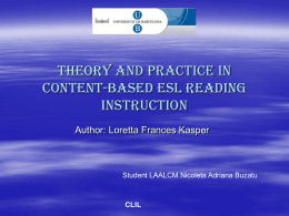Theory and Practice in Content