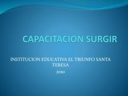CAPACITACION SURGIR