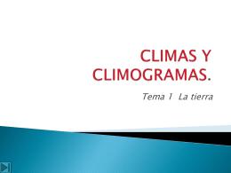 CLIMAS Y CLIMOGRAMAS.