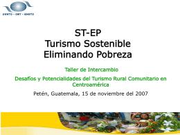 ST-EP Turismo Sostenible Eliminando Pobreza