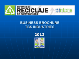 BUSINESS BROCHURE TBS INDUSTRIES & COESNA