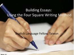 Building Essays: Using the Four Square Writing Method