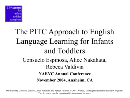 The PITC Approach to English Language Learning for …