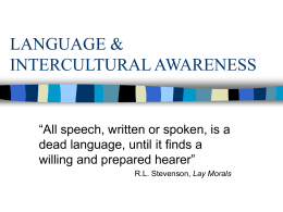 LANGUAGE & INTERCULTURAL AWARENESS