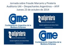 Jornada sobre Fraude Marcario y Pirateria