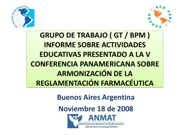 GRUPO DE TRABAJO ( GT / BPM ) INFORME SOBRE …