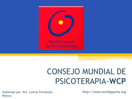 Diapositiva 1 - WCP - Word Council for Psychotherapy