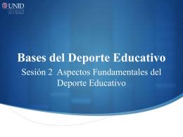 Bases del Deporte Educativo