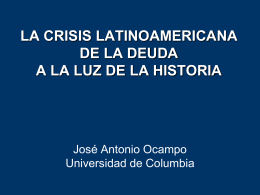 DEBT CRISIS MANAGEMENT: LESSONS FROM LATIN …