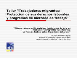 La crisis estructural ecuatoriana y las migraciones
